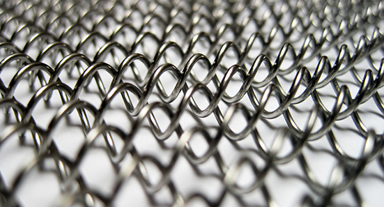 stainless steel curtain closeup